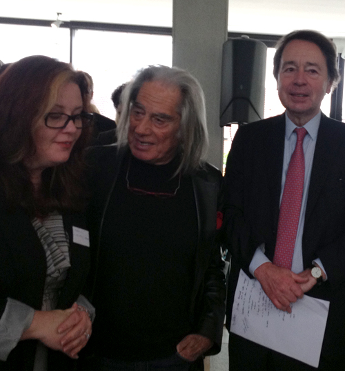 Rahshia Linendoll-Sawyer, Fabrizio Plessi, and Jean-Noël Jeanneney Jury President, Contemporary Talent 2012